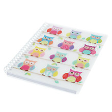 Buy Go Stationery Owl A5 Notebook, White Online at johnlewis.com