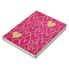 Buy Go Foiled A6 Notebook, Pink with Gold Hearts Online at johnlewis.com