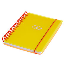 Buy Go Stationery Designs Diagrams Doodles Yellow Notebook, A6 Online at johnlewis.com