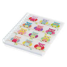 Buy Go Stationery Owl A6 Notebook, White Online at johnlewis.com