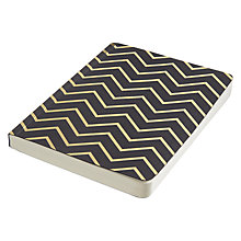 Buy Go Foiled Zig Zag A6 Notebook, Black Online at johnlewis.com