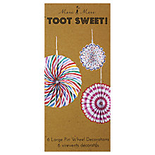 Buy Meri Meri Toot Sweet Pinwheel Decorations, Pack of 6 Online at johnlewis.com