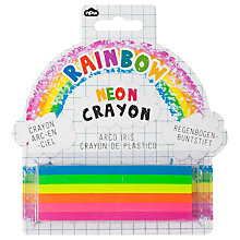 Buy Natural Products Giant Neon Rainbow Crayon Online at johnlewis.com