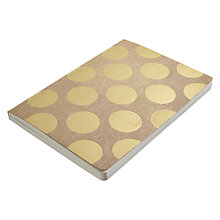 Buy Go Foiled A5 Notebook, Kraft with Gold Spots Online at johnlewis.com