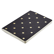 Buy Go Foiled A5 Notebook, Black with Gold Stars Online at johnlewis.com