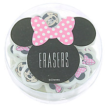 Buy Minnie Mouse Tub of Erasers Online at johnlewis.com