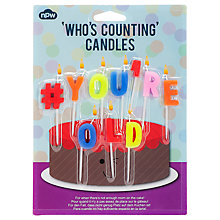 Buy NPW #You'reOld Birthday Candles, Pack of 10 Online at johnlewis.com
