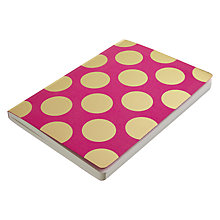 Buy Go Foiled A5 Notebook, Pink with Gold Spots Online at johnlewis.com