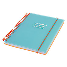 Buy Go Stationery Scribble Scrawl Sketch Aqua Notebook, A5 Online at johnlewis.com