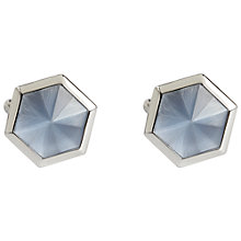 Buy Simon Carter Hexagon Catseye Cufflinks, Light Blue Online at johnlewis.com