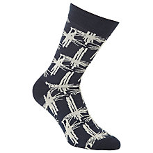 Buy JOHN LEWIS & Co. Bamboo Print Cotton Blend Socks, One Size Online at johnlewis.com