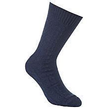 Buy JOHN LEWIS & Co. Buffalo Cable Knit Socks, One Size, Navy Online at johnlewis.com