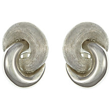Buy Eclectica Vintage 1960s Christian Dior Double Knot Clip-On Earrings, Silver Online at johnlewis.com