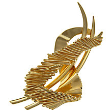 Buy Eclectica Vintage 1970s Trifari Modernist Abstract Brooch, Gold Online at johnlewis.com
