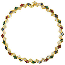 Buy Eclectica Vintage 1980s Attwood & Sawyer Geometric Gold Plated Necklace, Multi Online at johnlewis.com