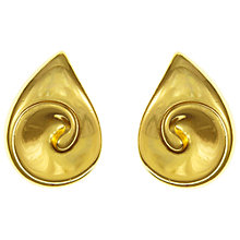 Buy Eclectica Vintage 1970s Christian Dior Gold Plated Abstract Earrings, Gold Online at johnlewis.com