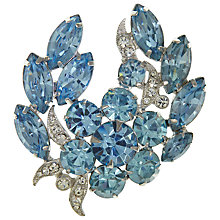 Buy Eclectica Vintage 1950s Eisenberg Swarovski Crystals Brooch, Blue / White Online at johnlewis.com