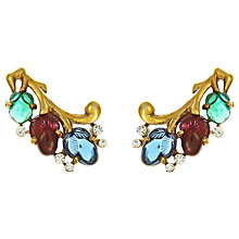 Buy Eclectica Vintage 1940s Trifari Carved Fruit Earrings, Multi/Gold Online at johnlewis.com
