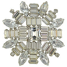 Buy Eclectica Vintage 1950s Weiss White Stone Chrome Brooch, White Online at johnlewis.com