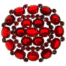 Buy Eclectica Vintage 1940s Large Glass Brooch, Red Online at johnlewis.com