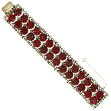 Buy Eclectica Vintage 1950s Kramer of New York Bracelet, Red Online at johnlewis.com