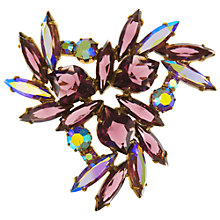 Buy Eclectica Vintage 1950s Swarovski Gold Plated Brooch, Purple/Gold Online at johnlewis.com