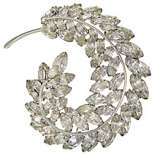 Buy Eclectica Vintage 1960s Sherman Feather Chrome Plated Brooch, White/Silver Online at johnlewis.com