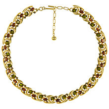 Buy Eclectica Vintage 1950s Trifari Abstract Gold Plated Paste Necklace, Green/Brown Online at johnlewis.com