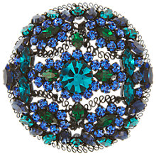 Buy Eclectica Vintage 1960s Austrian Crystal Filagree Brooch, Blue / Green Online at johnlewis.com