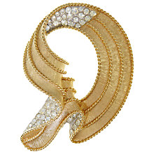 Buy Eclectica Vintage 1950s Trifari Matte Gold Plated Brooch, Gold/Silver Online at johnlewis.com