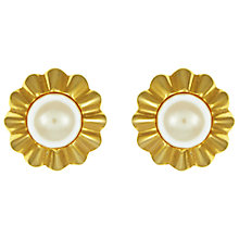 Buy Eclectica Vintage 1960s Grosse Gold Plated Faux Pearl Clip-On Earrings, Gold Online at johnlewis.com