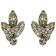 Buy Eclectica Vintage 1950s Rhinestone Clip-On Chrome Plated Earrings, White/Silver Online at johnlewis.com