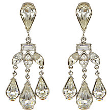 Buy Eclectica Vintage 1950s Trifari Swarovski Drop Earrings, Silver Online at johnlewis.com