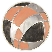 Buy Eclectica Vintage 1970s Trifari Abstract Circular Enamel Brooch, Peach Online at johnlewis.com