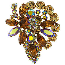 Buy Eclectica Vintage 1950s Abstract Austrian Crystal Brooch, Brown Online at johnlewis.com