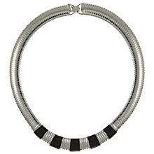Buy Eclectica Vintage 1980s Monet Enamel and Chrome Necklace, Silver/Black Online at johnlewis.com