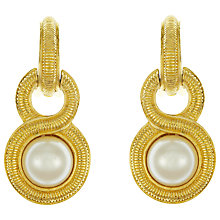 Buy Eclectica Vintage 1970s Christian Dior Gold Plated Faux Pearl Clip-On Drop Earrings, Gold Online at johnlewis.com