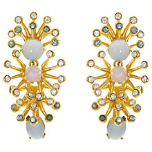 Buy Eclectica Vintage 1969 Grosse Space Age Gold Plated Clip-On Earrings, Gold/Multi Online at johnlewis.com