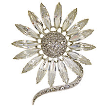 Buy Eclectica Vintage 1960s Crystal Chrome Daisy Brooch Online at johnlewis.com