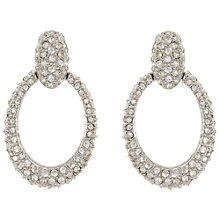 Buy Eclectica Vintage 1980s Swarovski Crystal Loop Clip-On Earrings, White Online at johnlewis.com
