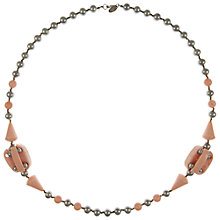 Buy Eclectica Vintage 1960s Miriam Haskell Pearl and Resin Necklace, Pink/Grey Online at johnlewis.com
