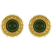 Buy Eclectica Vintage 1970s Christian Dior Clip-On Cabochon Earrings, Gold/Green Online at johnlewis.com