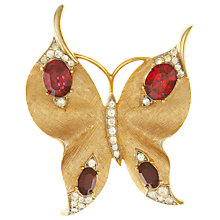Buy Eclectica Vintage 1950s Trifari Butterfly Brooch, Red/Gold Online at johnlewis.com