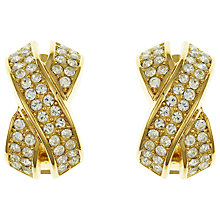 Buy Eclectica Vintage 1970s Christian Dior Gold Plated Clip-On Earrings, Gold/White Online at johnlewis.com