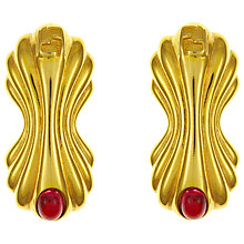 Buy Eclectica Vintage 1980s Fendi Cabochon Clip-On Earrings, Red/Gold Online at johnlewis.com