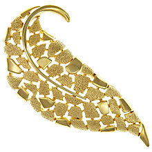 Buy Eclectica Vintage 1960s Trifari Abstract Gold Plated Bracelet, Gold Online at johnlewis.com