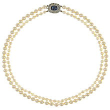 Buy Eclectica Vintage 1950s Faux Pearl Necklace, Cream/Blue Online at johnlewis.com