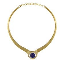 Buy Eclectica Vintage 1970s Grosse Snake Chain Gold Plated Necklace, Gold/Blue Online at johnlewis.com