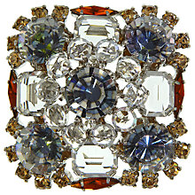 Buy Eclectica Vintage 1950s Schriener Crystal Brooch, Brown/Grey Online at johnlewis.com