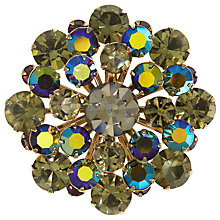 Buy Eclectica Vintage 1950s Gold Plated Rhinestone Brooch, Grey/Purple Online at johnlewis.com